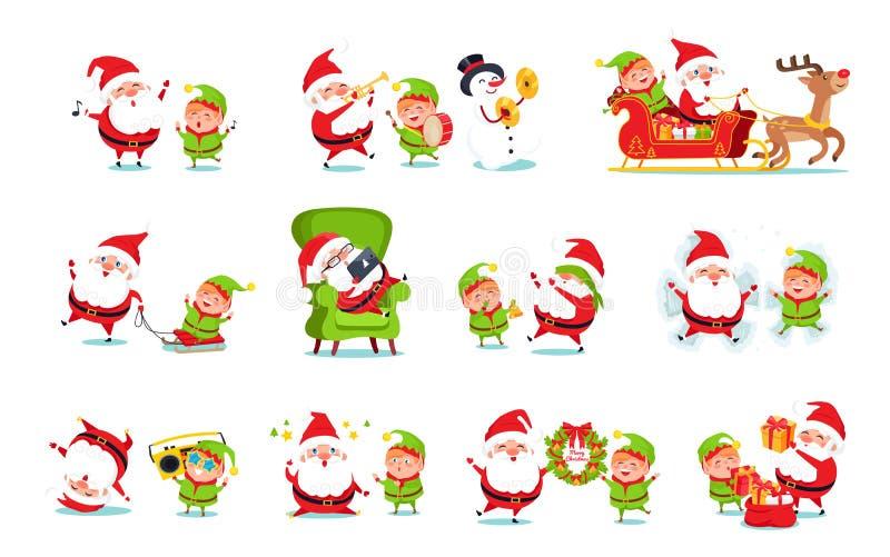 download santa claus helper activities vector illustration stock vector illustration of male celebration - Santa Claus Activities