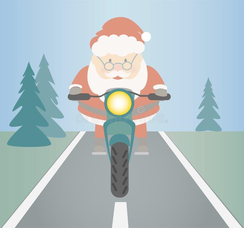Santa Claus-het berijden stock illustratie