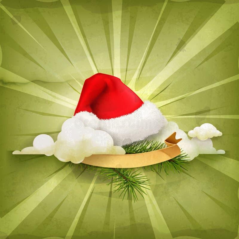 Santa Claus-hoed stock illustratie
