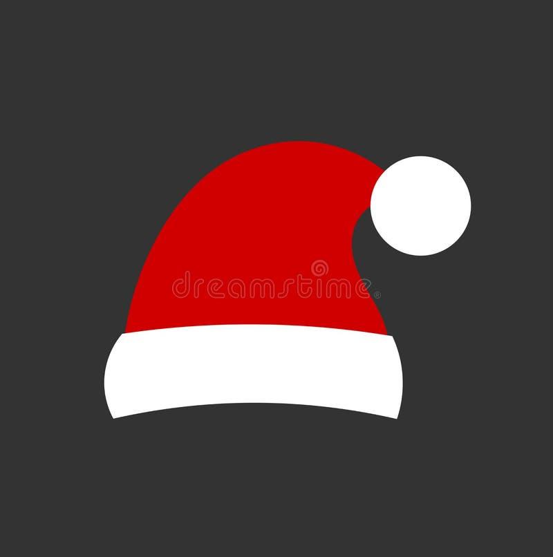 Santa Claus-hoedenpictogram vector illustratie