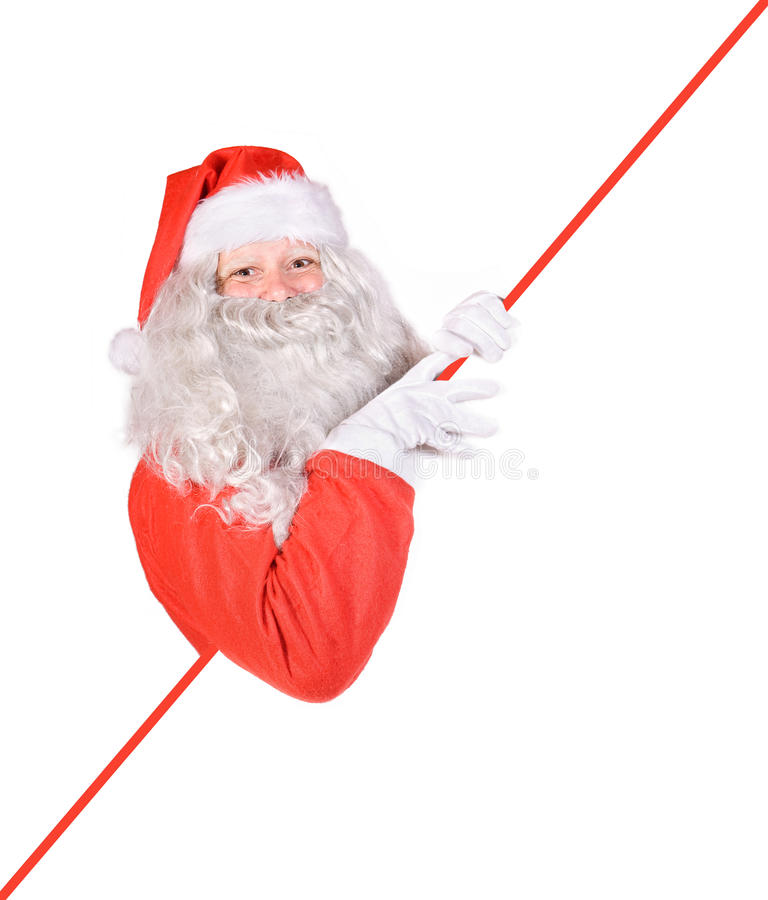 Download Santa Claus Holding A Blank Sign Stock Image - Image: 22411189