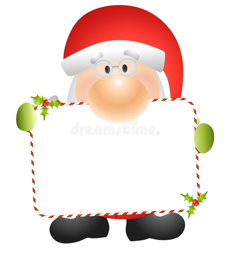 Santa Claus Holding Card 2 Stock Photography