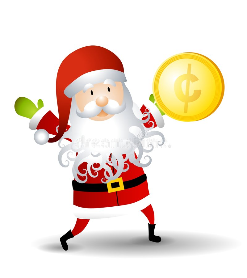 Download Santa Claus Holding Penny stock illustration. Image of christmas - 7171680