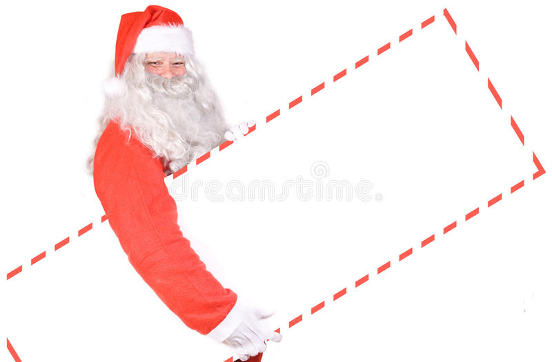 Download Santa Claus holding a sign stock image. Image of card - 21489829