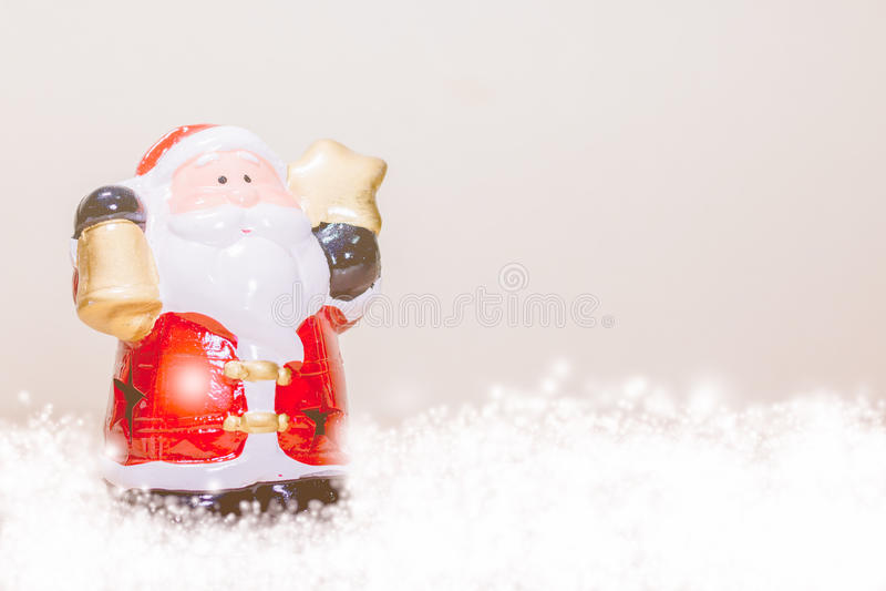 Santa Claus Holding Star e Bell fotografia de stock