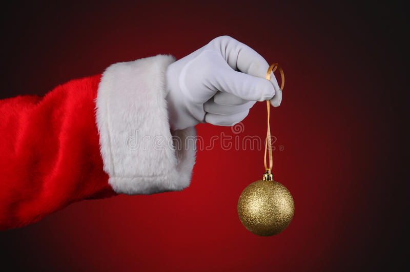 Santa Claus Holding Tree Ornament royalty free stock images