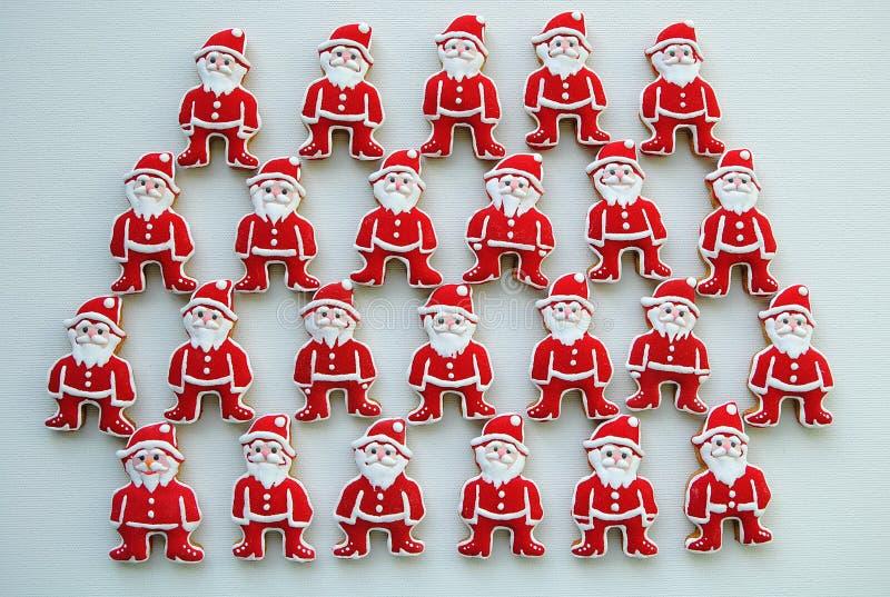 Santa Claus Honey Cookies su un fondo bianco immagine stock