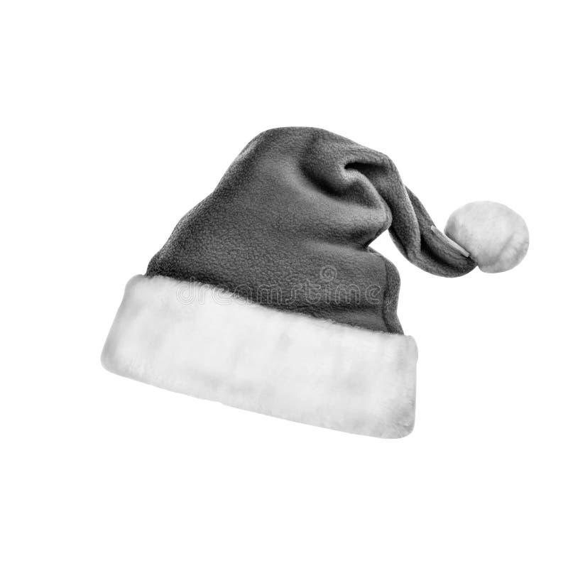 Santa Claus-Hut, lokalisiert, Weihnachten, neues Jahr, Winter stockbilder