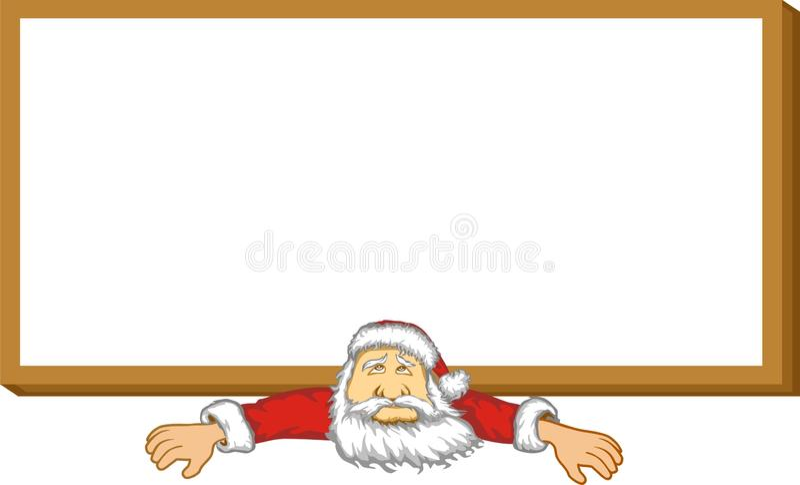 Santa Claus i billboard royalty ilustracja