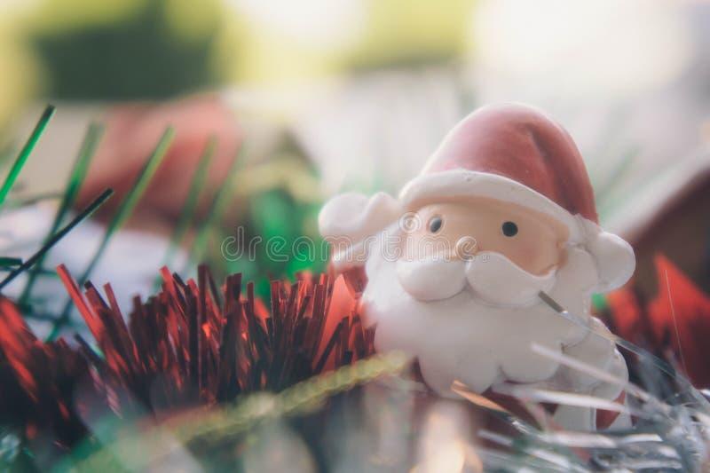 Santa Claus i chirstmas tło obraz royalty free
