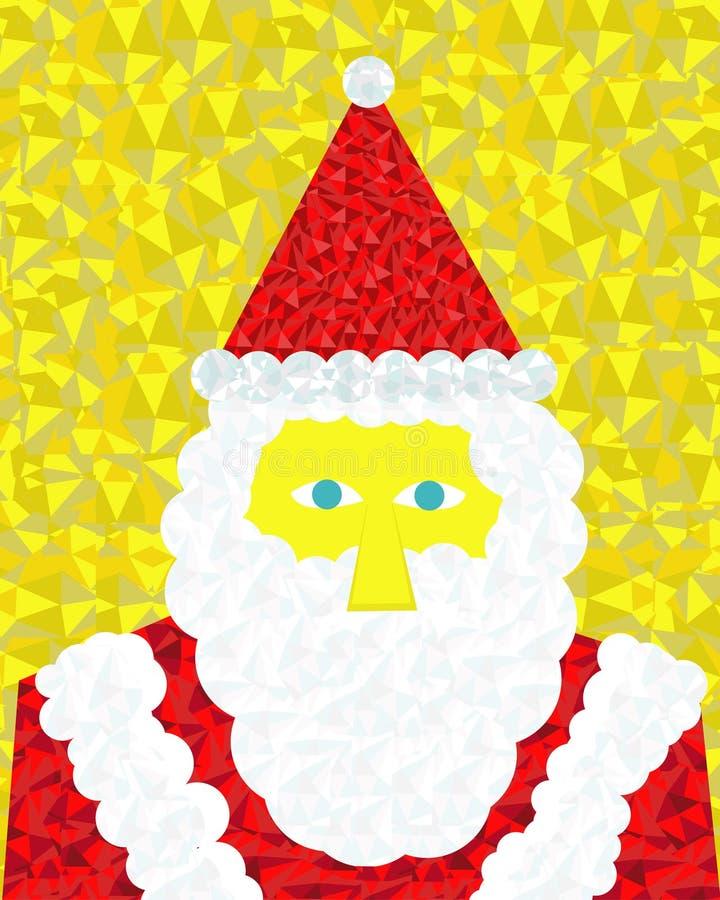 Santa Claus i färgrikt diagram royaltyfri illustrationer
