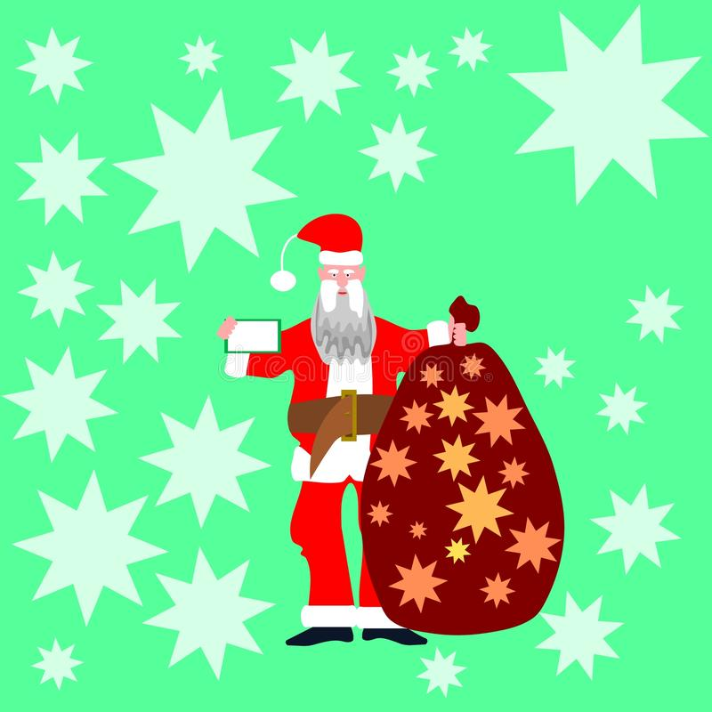 Santa Claus i röda kläder vektor illustrationer
