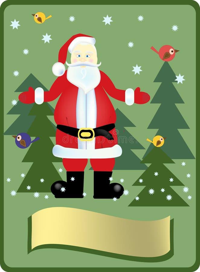 Santa Claus i trät royaltyfri foto
