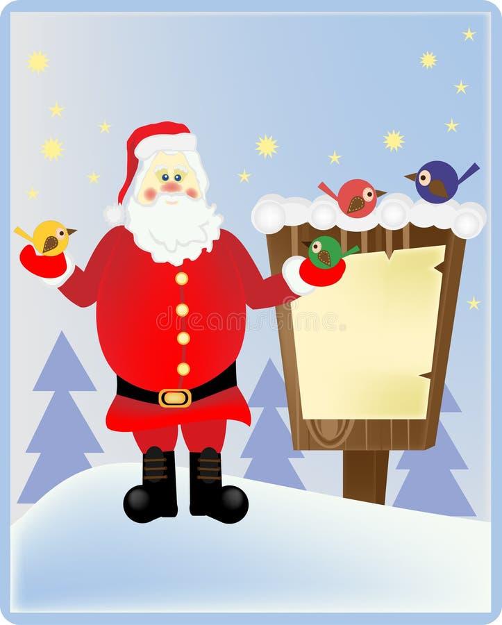 Santa Claus i trät arkivfoto