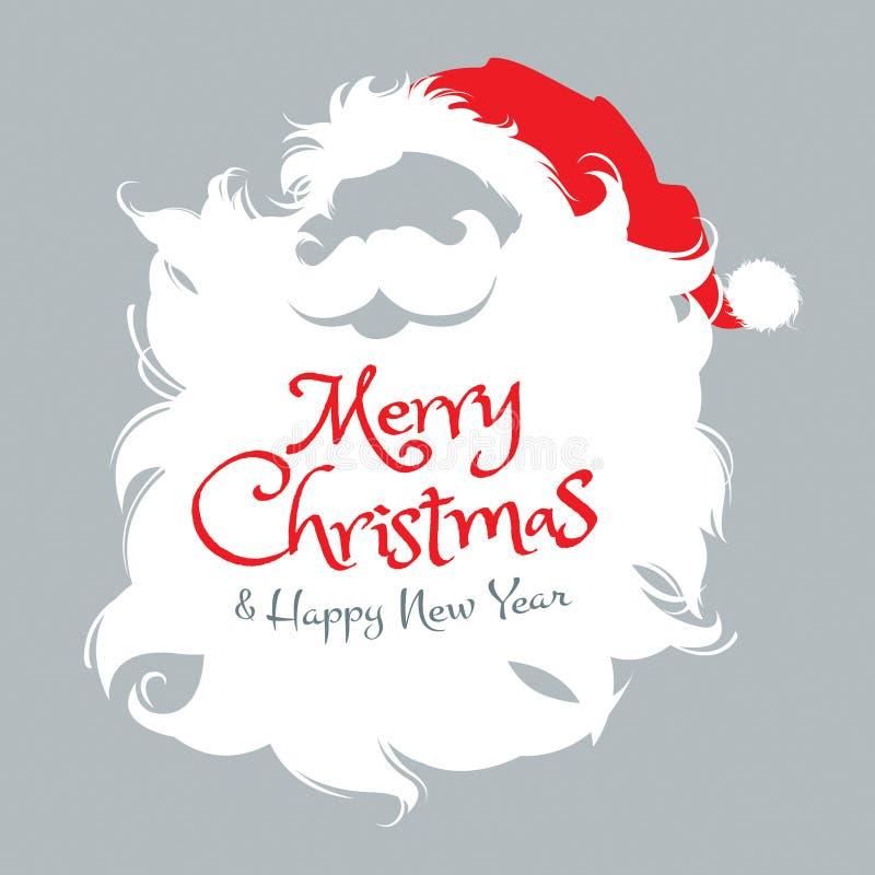 Santa Claus Icon stock illustrationer