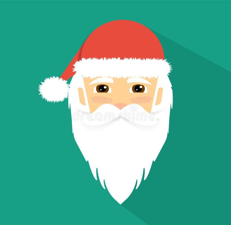 Santa Claus Icon Flaches Design vektor abbildung