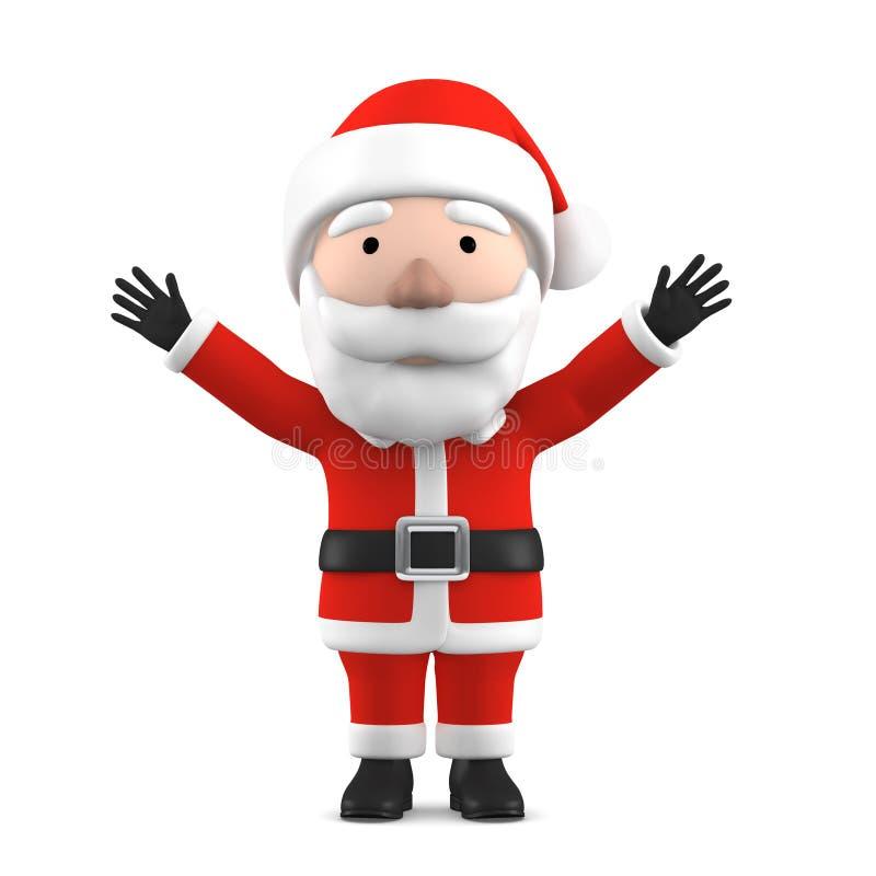 Santa Claus, illustration 3D illustration libre de droits