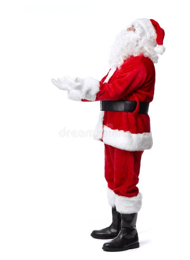 Santa Claus a isolé sur le blanc. photo libre de droits