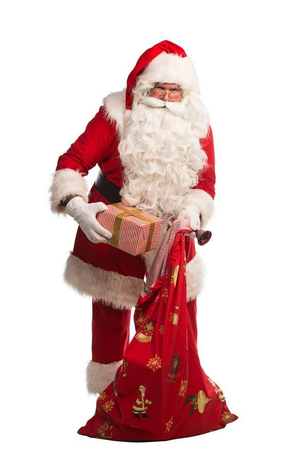 Santa Claus isolou-se no fundo branco, com o trajeto do trabalho incluído para o isolamento fácil fotografia de stock