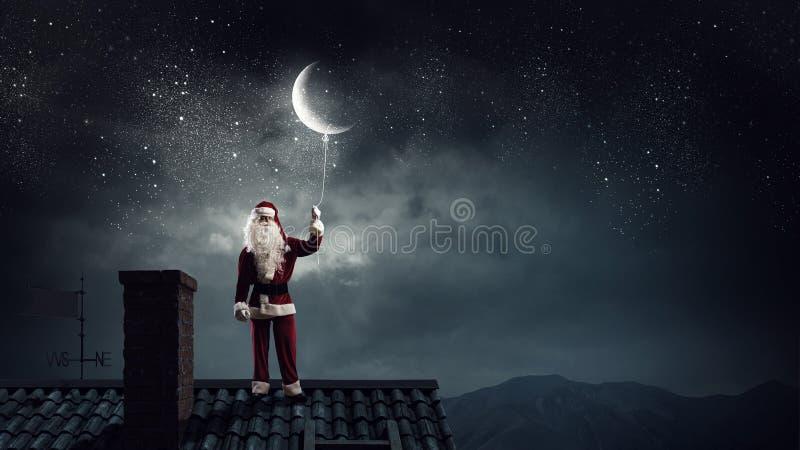 Santa Claus ist bereits hier Gemischte Medien stockbild