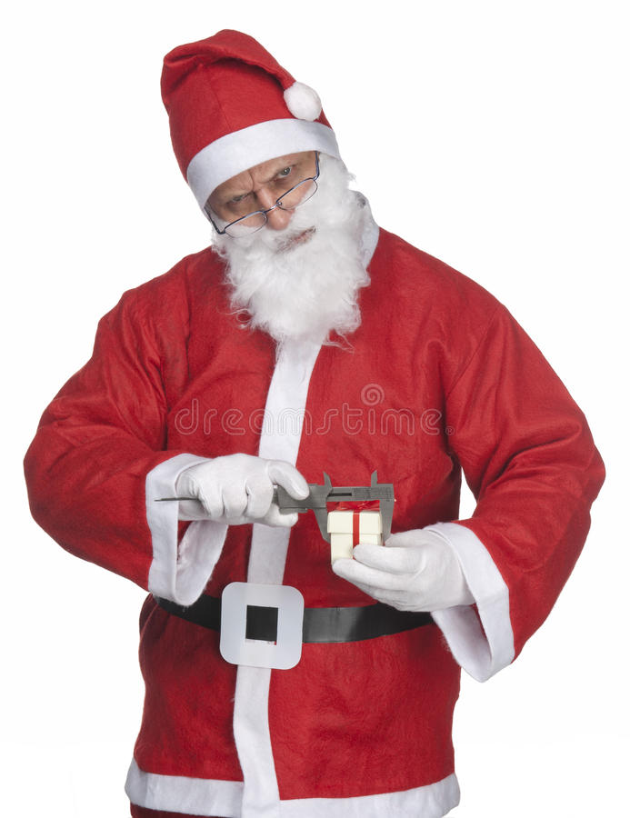 Santa Claus with ittle gift royalty free stock image