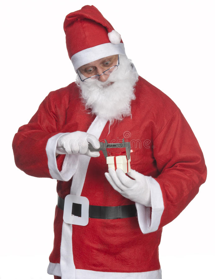 Santa Claus with ittle gift royalty free stock images