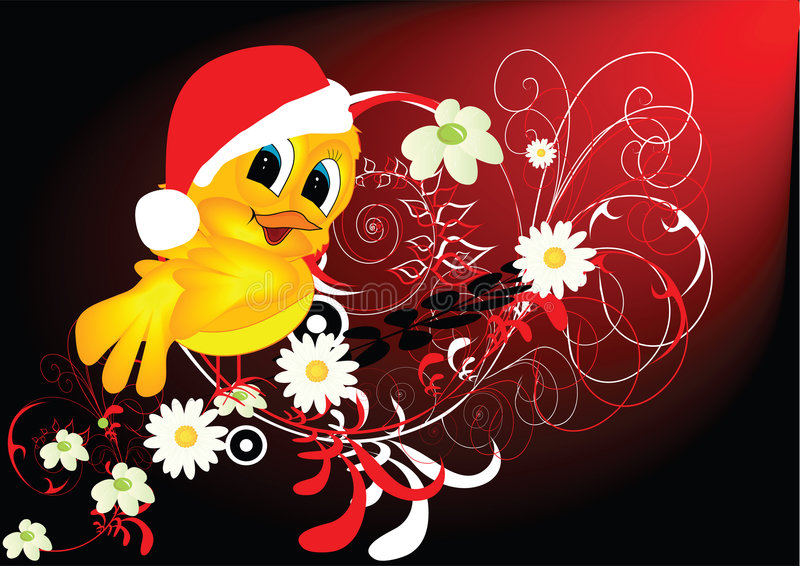 Santa Claus jak ptak ilustracja wektor