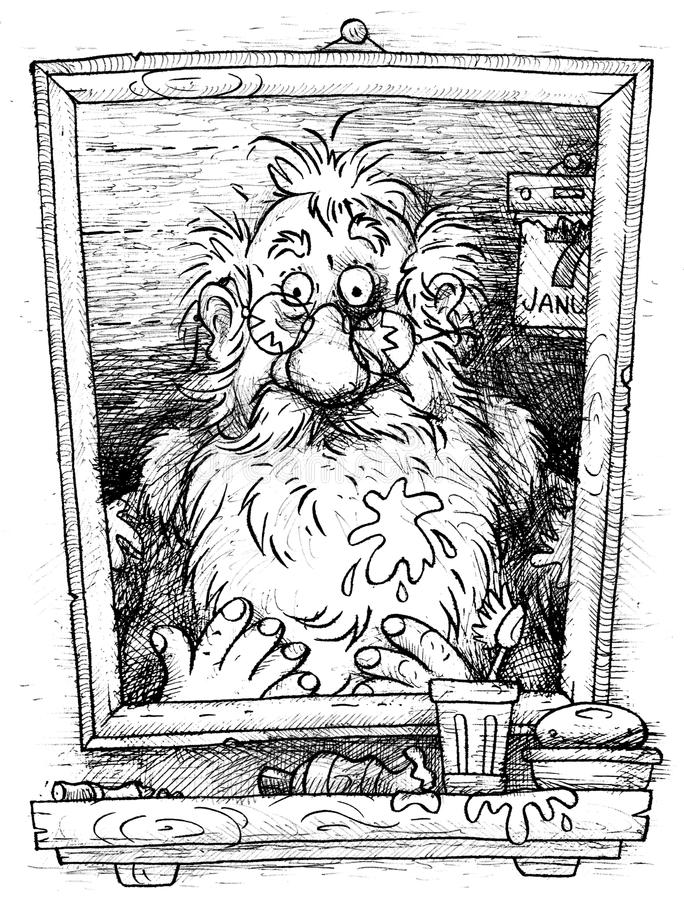 Santa Claus on January 7 stock illustration