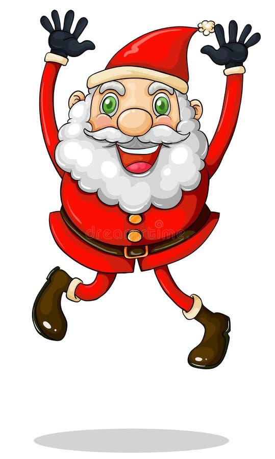 Santa Claus Jumping Royalty Free Stock Images