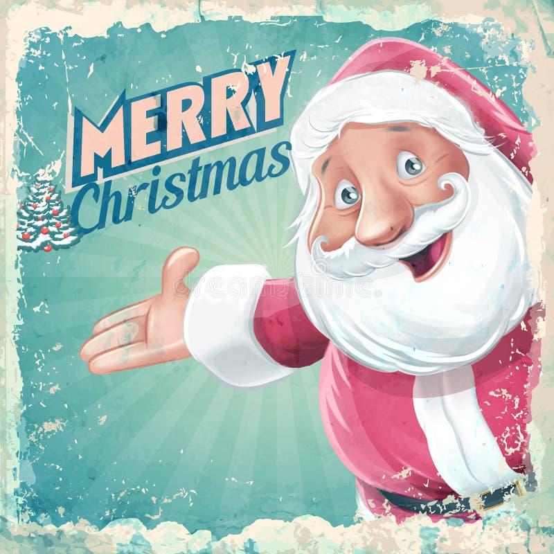 Santa Claus karciany retro ilustracji