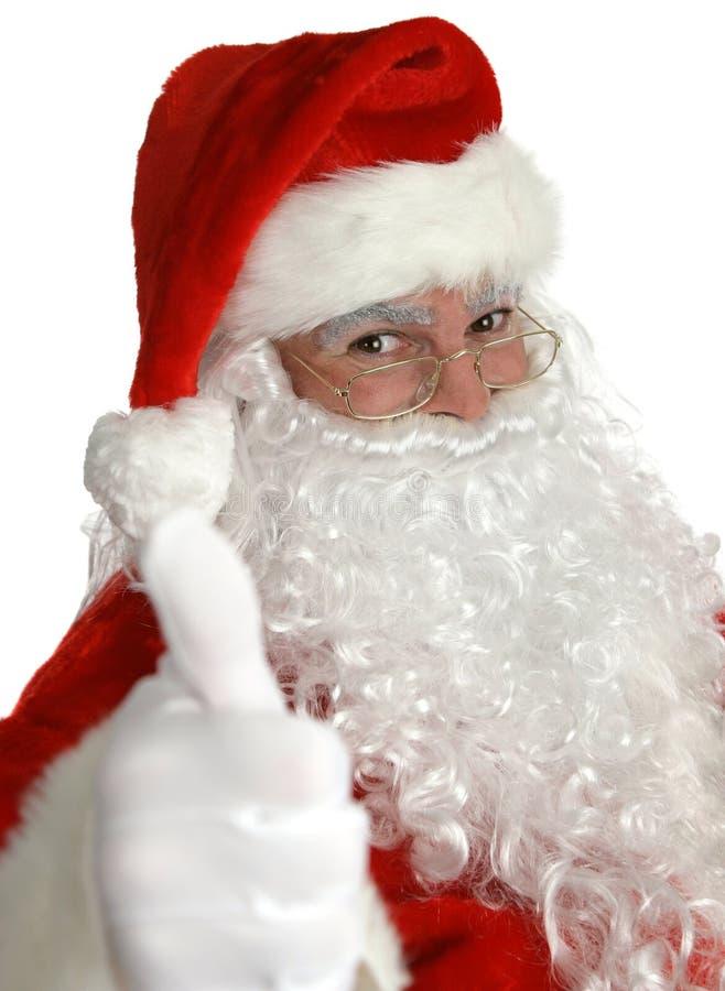 Santa claus kciuki w górę zdjęcia stock