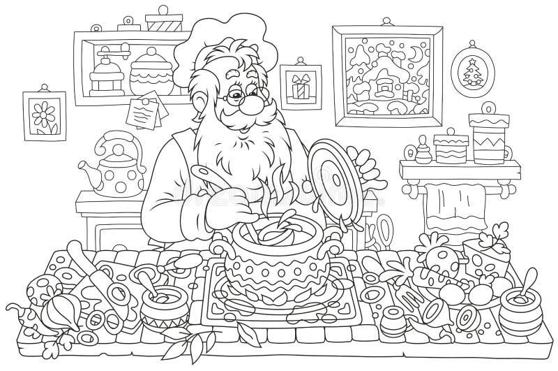 Santa Claus-Kochen vektor abbildung