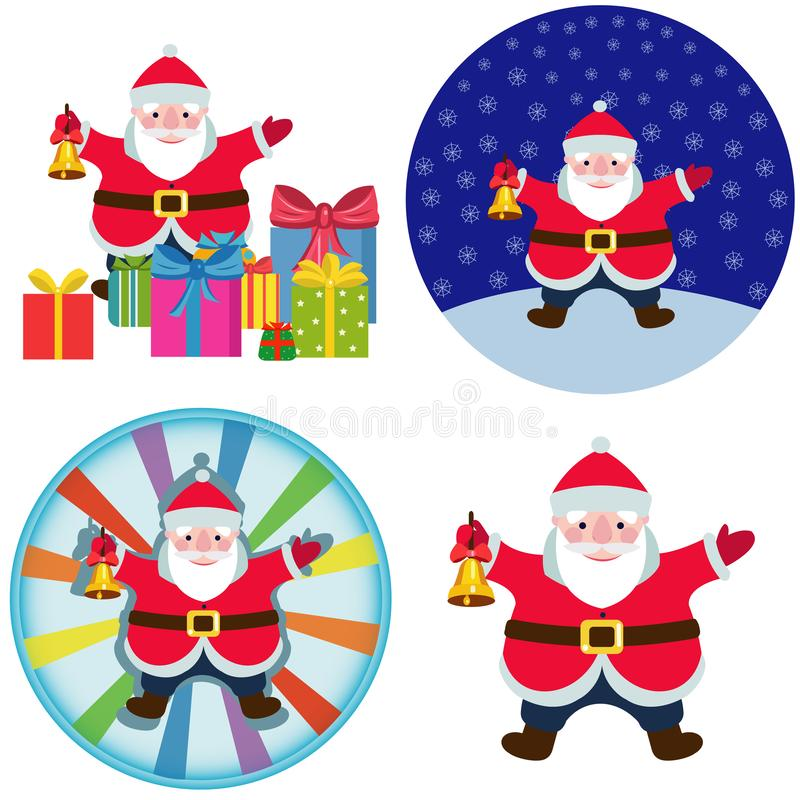 Santa Claus komiks obrazy stock