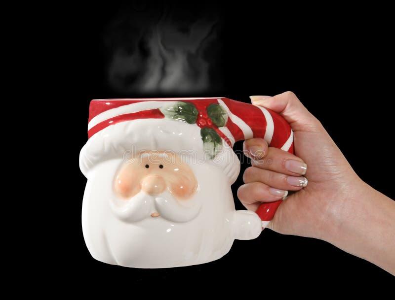Santa claus kubek obrazy stock