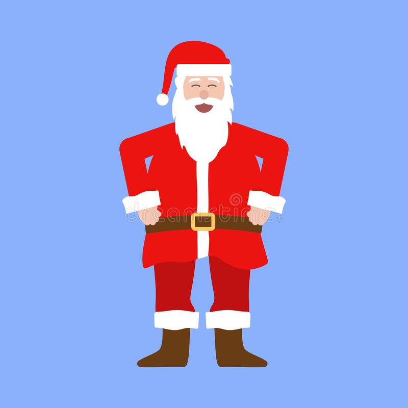 Santa Claus lacht royalty-vrije illustratie