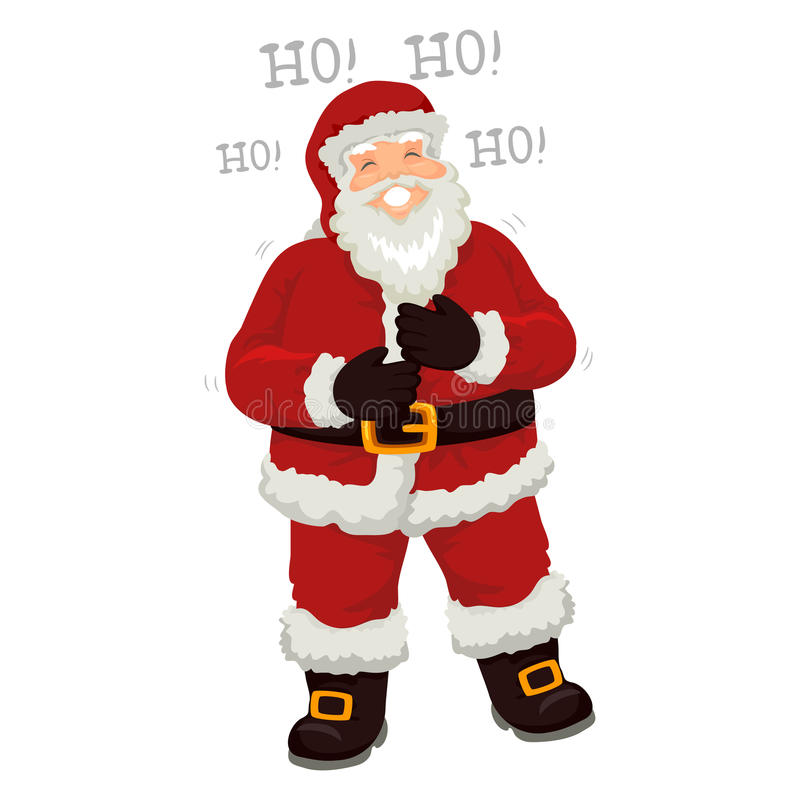 Santa Claus Laughing hacia fuera ruidosamente stock de ilustración