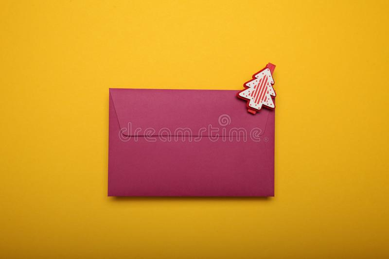 Santa Claus letter, christmas list.  stock photo