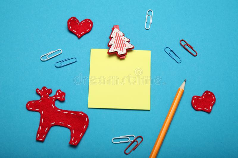 Santa Claus letter, christmas list.  royalty free stock photography