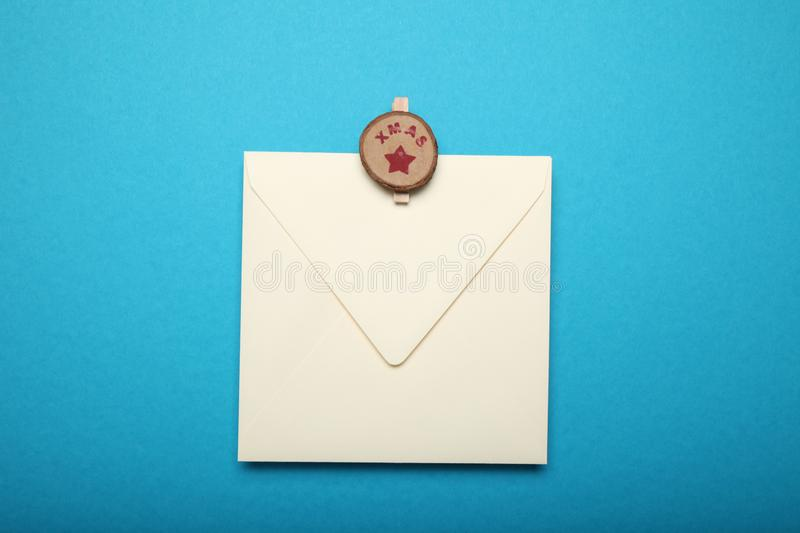 Santa Claus letter, christmas list.  royalty free stock image