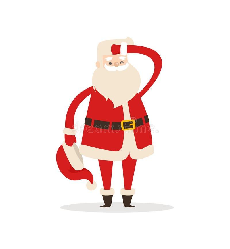 Santa Claus Light Icon Vector Illustration linda stock de ilustración
