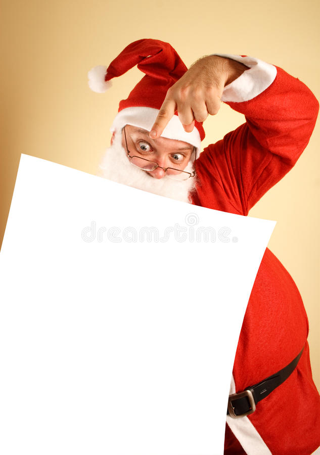 Santa claus with list stock image