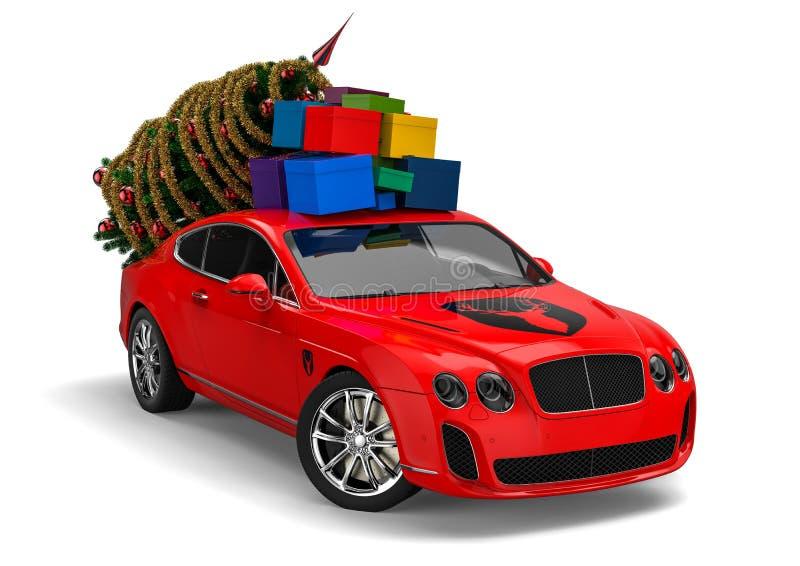 Santa Claus Luxury Sleigh royalty-vrije illustratie