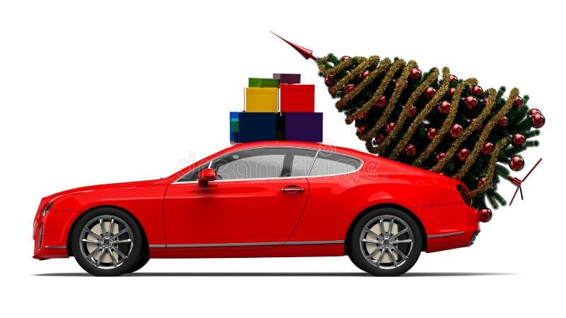 Santa Claus Luxury Sleigh stock illustratie