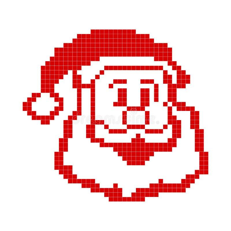 Santa Claus målade i PIXEL stock illustrationer