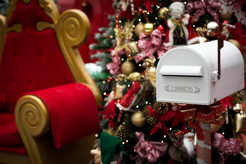 Santa Claus mailbox stock images