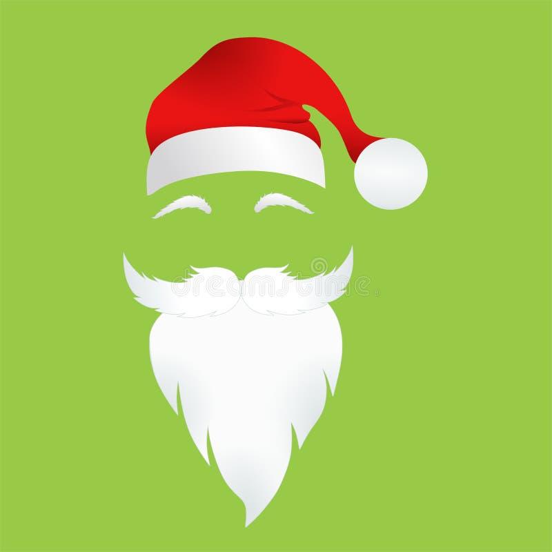 Santa Claus Mask illustrazione vettoriale
