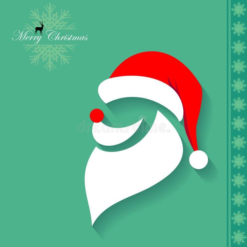 Santa Claus Mask illustrazione di stock