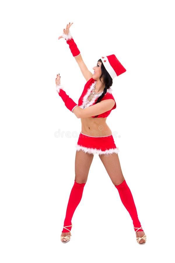 Santa Claus med holdinggest arkivfoto