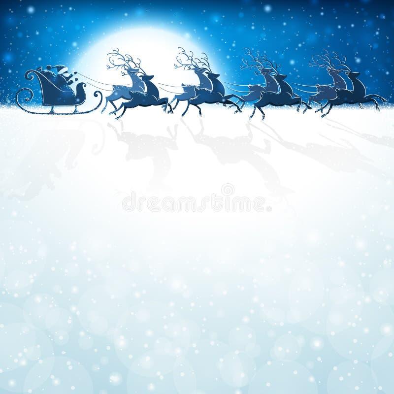 Santa Claus med renen stock illustrationer