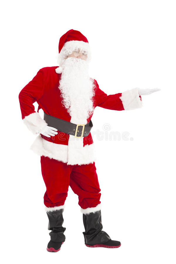 Santa Claus med visninggest arkivfoto